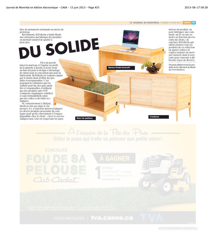 1506_Journal de Montréal en édition électronique - CASA - 15 juin 2013 - Page #25